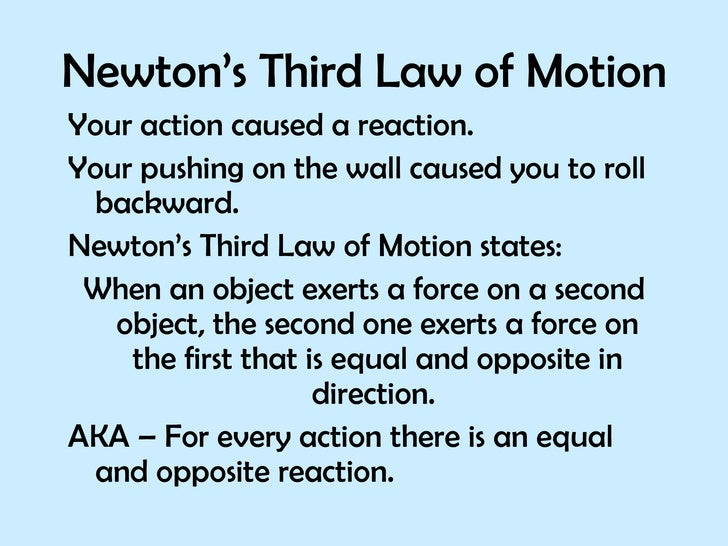 newtons third law V f lenzen, newton's third law of motion, isis 27, no 2 (aug, 1937): 258-260    most read of all published articles, the.