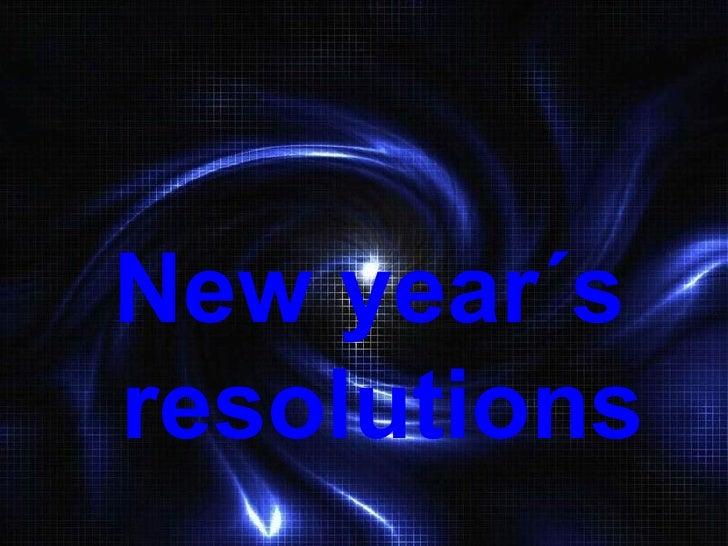 New year´s  resolutions