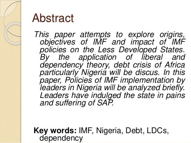 imf and nigeria development