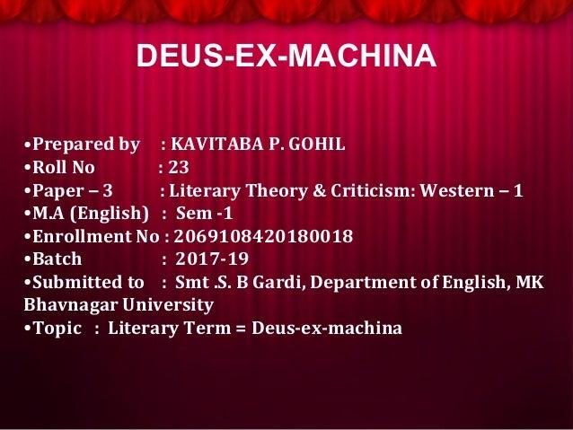 Literary Termdeus Ex Machina