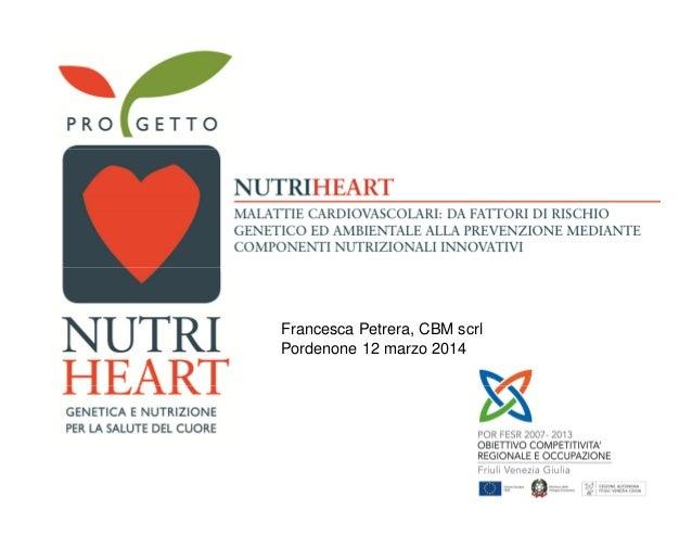 Francesca Petrera, CBM scrl Pordenone 12 marzo 2014