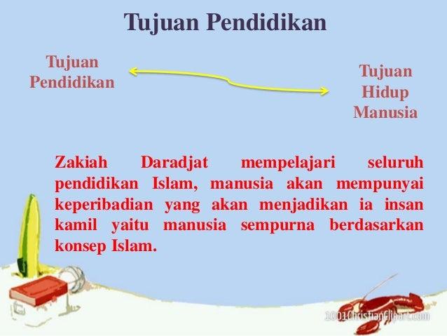 Tujuan Pendidikan Tujuan Pendidikan Tujuan Hidup Manusia Zakiah Daradjat mempelajari seluruh pendidikan Islam, manusia aka...
