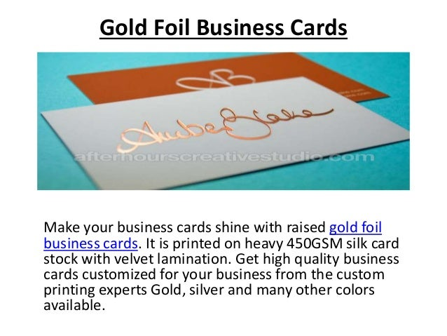 Luxury business cards 2 gold foil business cards reheart Gallery