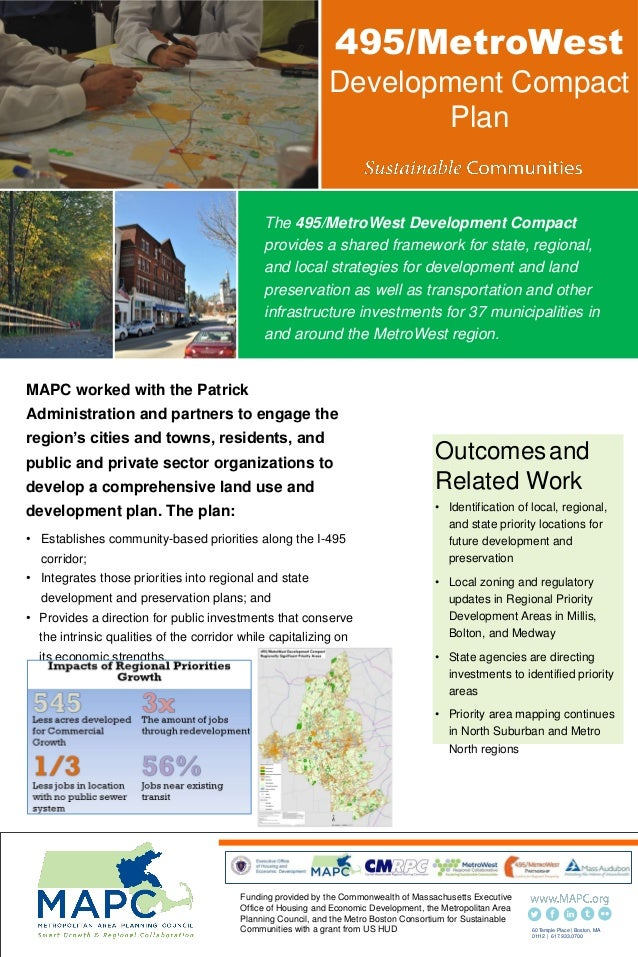 495/MetroWest Development Compact Plan MAPC worked with the Patrick Administration and partners to engage the region's cit...