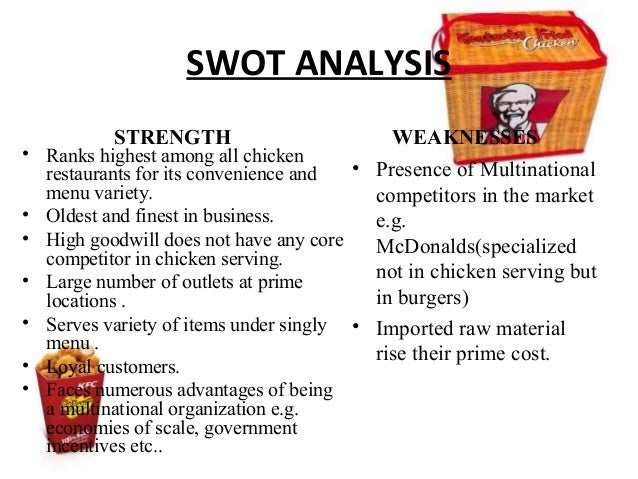 kfc pest analysis essay Kentucky fried chicken was one of the first fast-food chains to go international in the 1950's and has remained a strong essays related to kfc situation analysis 1.