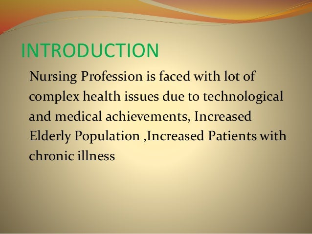 An introduction to the issue of stress in the nursing profession
