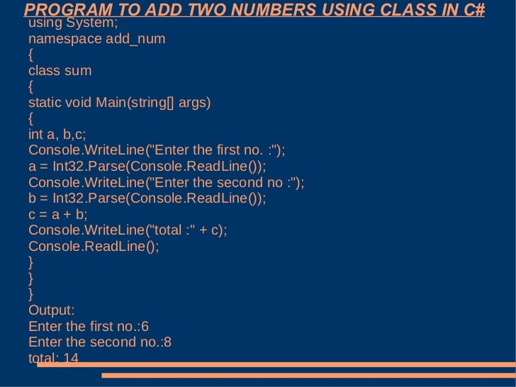 C Program to Add two Complex Numbers