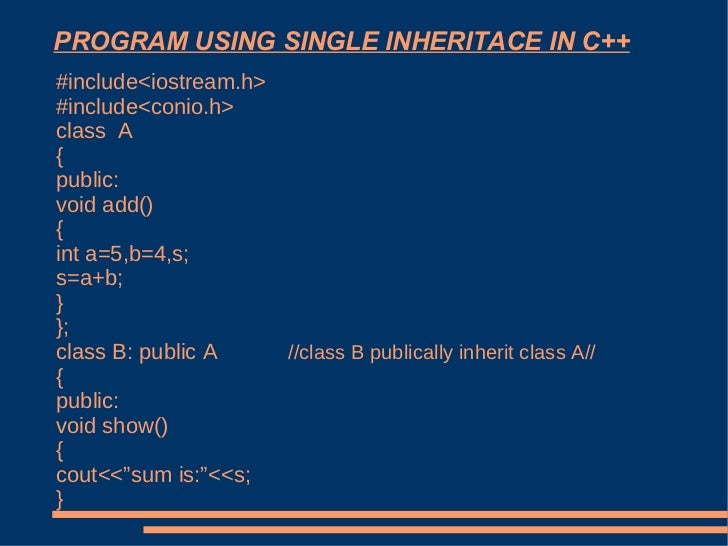 Write a program to implement multilevel inheritance in c using classes