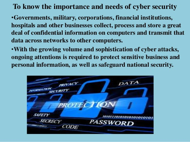 Cyber Security Need Of The Hour
