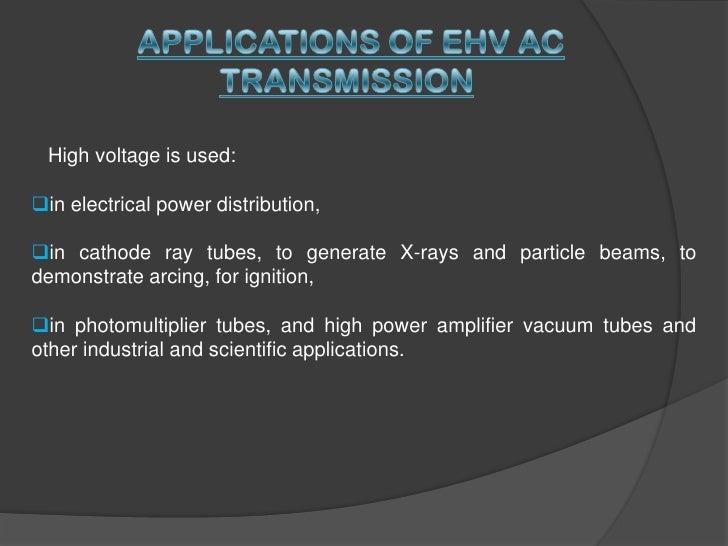 advantages and disadvantages of ehv ac transmission system pdf