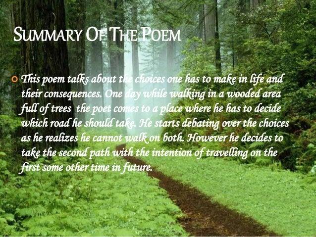 The road not taken summary pdf