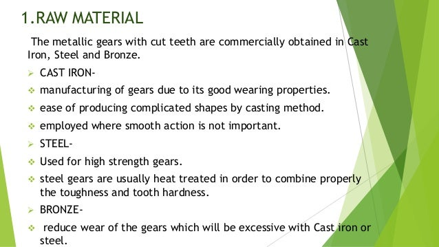 Ppt of gear manufacturing