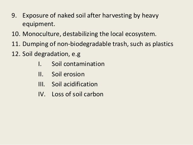 Soil erosion by wind or water
