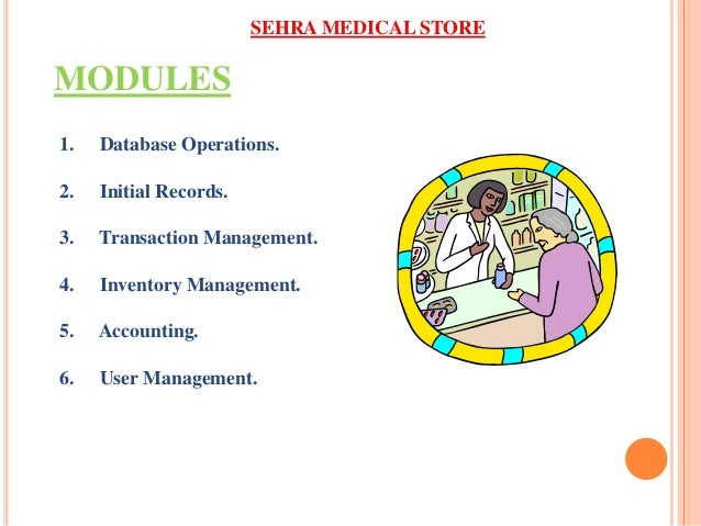 Ppt of medical store