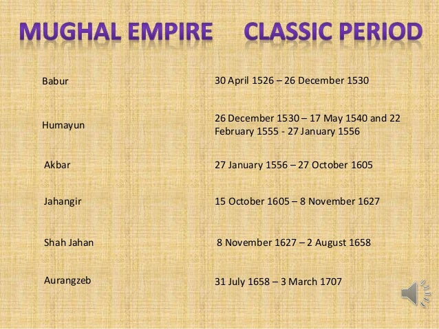 chronology of the mughal kings Peasants, zamindars and the state 223 224 themes in indian history – part ii theme kings and chronicles nine the mughal courts ( c sixteent sixteenthh - seventeenth centuries) the rulers of the mughal empire saw themselves as appointed by divine will to rule over a large and heterogeneous populace.