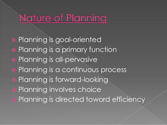 purpose of planning ppt