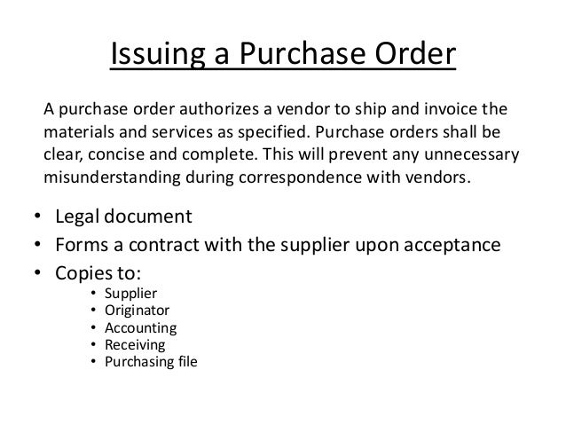 Ppt of purchase cycle chandra 12mt07ind008 – Is a Purchase Order a Legal Document