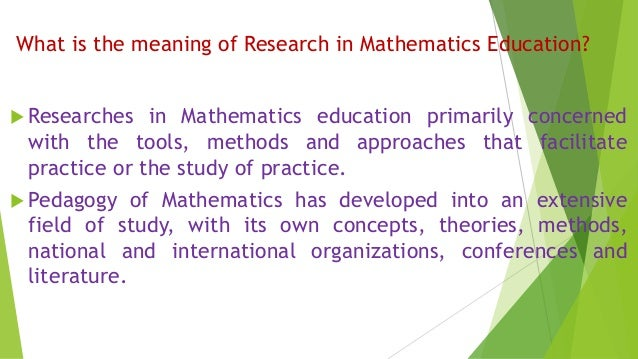 ppt of research in maths education