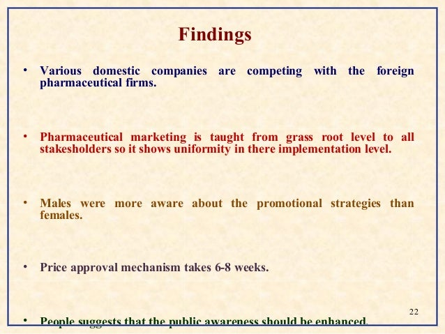 Report on marketing practices of selected
