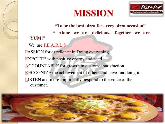 marketing strategy by pizza hut Such huge success is attributed to its sheer commitment to the quality of not just the products but also the customer service that it provides to its valued customers the company continually strives for greater success through its focussed efforts towards the pizza lovers in the town the marketing strategies.