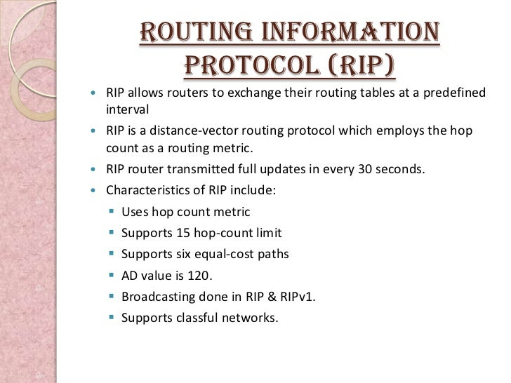 "the routing information protocol rip essay (""routing protocol essay  //studentsharenet/information-technology/667553-routing  the examples of distance vector routing protocol are igrp and rip whereas."