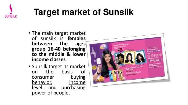 sunsilk shampoo target