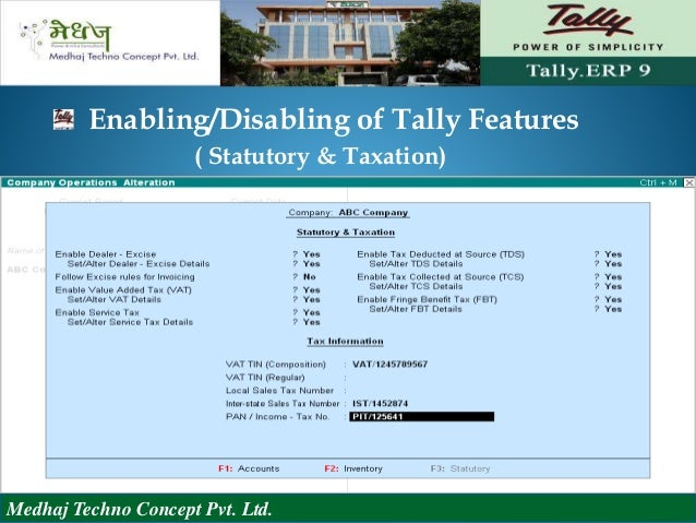 tally with accounting concept Basics of accounting, getting started with tallyerp 9 & fundamental features, creating masters (accounting and inventory),voucher entry & invoicing fundamentals of accountancy, basic concepts in income tax, residential status and its effect on tax incidence.