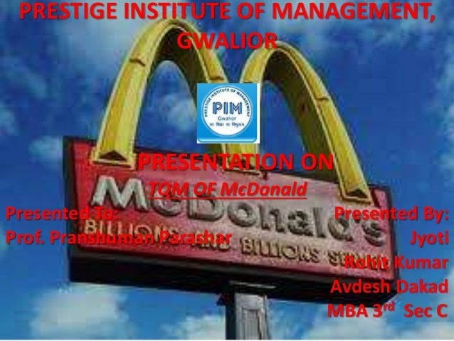 tqm of kfc Abstract previous studies reported mixed and ambiguous results of the relationship between tqm practices and performances this study investigated impacts of tqm practices on various performance measures as well as the reasons and the barriers of the tqm practices of firms in turkey.