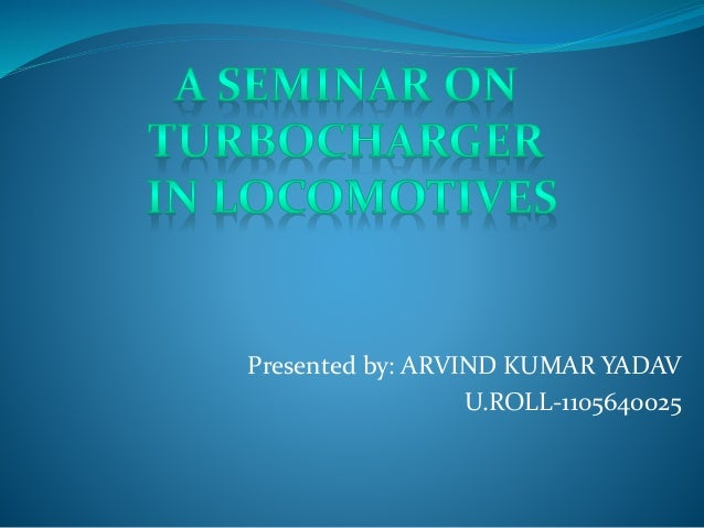 Project final ppt on turbocharger