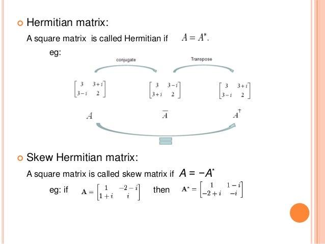 how to find the hermitian conjugate of a matrix