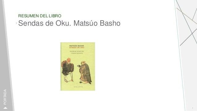 RESUMEN DEL LIBRO 1 PORTADA Sendas de Oku. Matsúo Basho