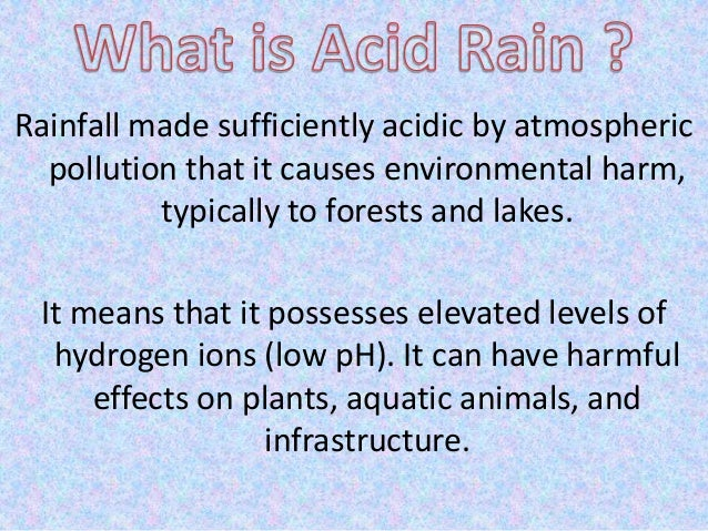 acid rain essay questions