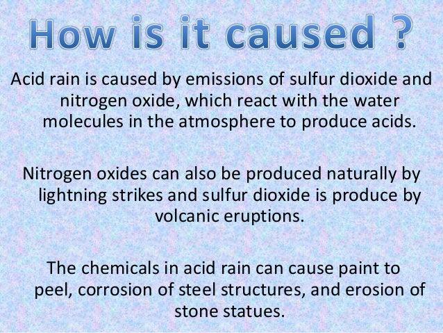 Acid paper rain term