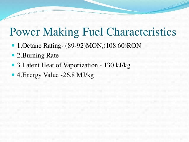 E85 Octane Rating >> ALCOHOL AS AN ALTERNATIVE FUEL IN IC ENGINE
