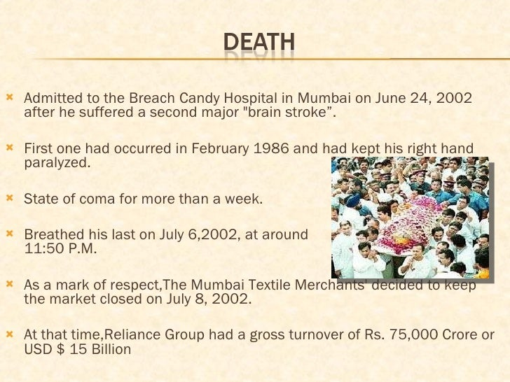 <ul><li>Admitted to the Breach Candy Hospital in Mumbai on June 24, 2002 after he suffered a second major &quot;brain stro...