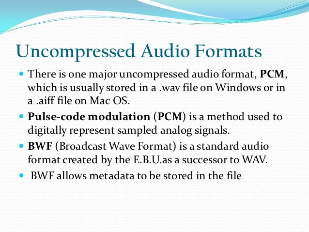 ppt on audio file formats