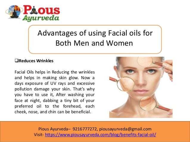Benefits of facial oils