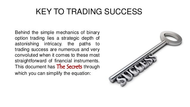 Secrets of options trading