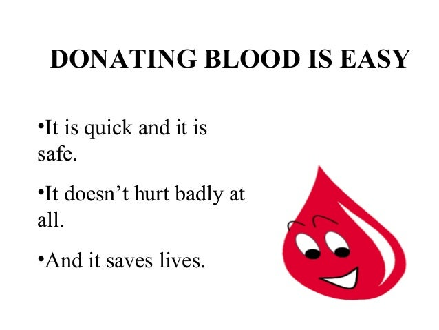 Ppt on blood donation