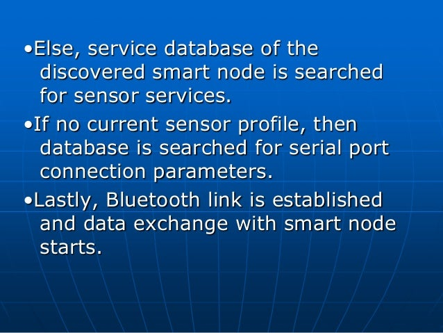 bluetooth based smart sensor networks ppt Wireless sensor networks project team, in the iec  321 miniaturization technology of sensor based on mems 20  52 wsn application in smart water networks 48.