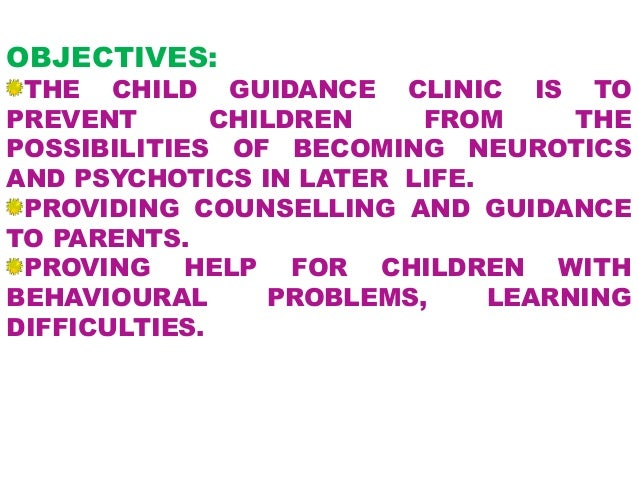 child guidance clinic To child guidance center we believe in helping every child grow up healthy and that includes effectively addressing emotional and behavioral health needs during the early years.