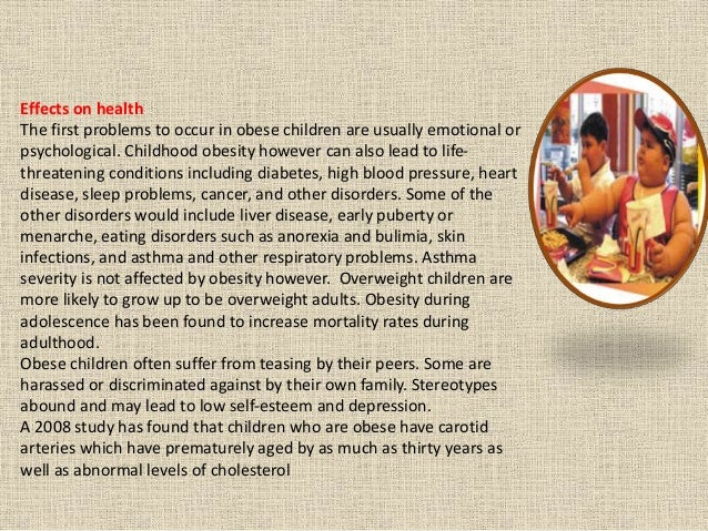 understanding the causes and problems of obesity in children Fat teen trouble: a sociological perspective of well -rounded understanding of childhood obesity is a critical problem not only because it has.