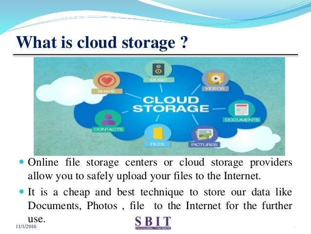 ppt on cloud storage application
