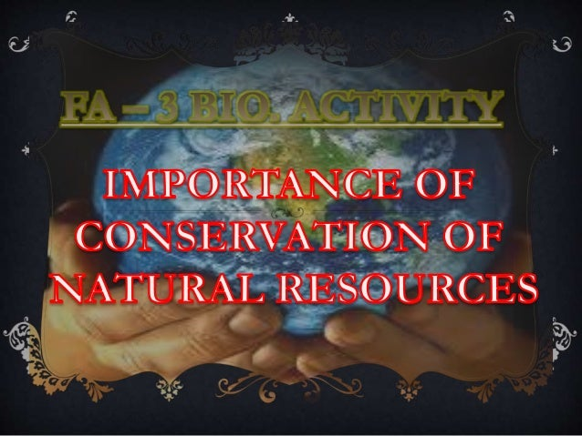 Natural resource depletion online presentation.