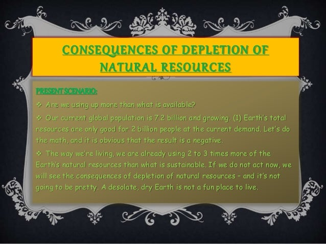 Loss Of Subsistence Use Of Natural Resources