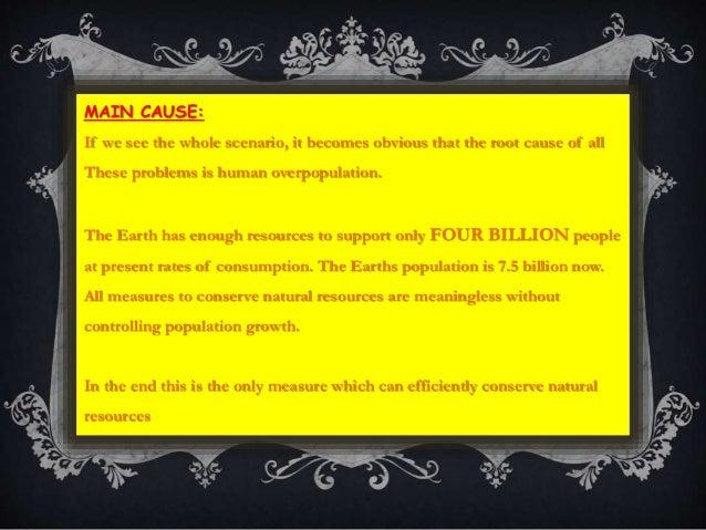 Depletion Of Natural Resources Ppt