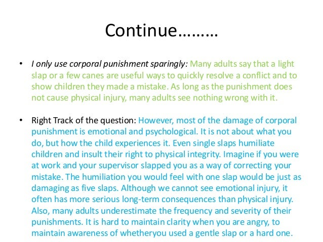 corporal punishment and the damages of