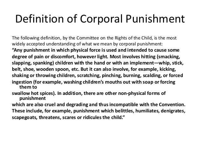 why corporal punishment is wrong