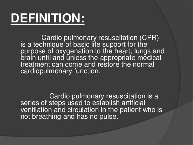 Ppt on cpr