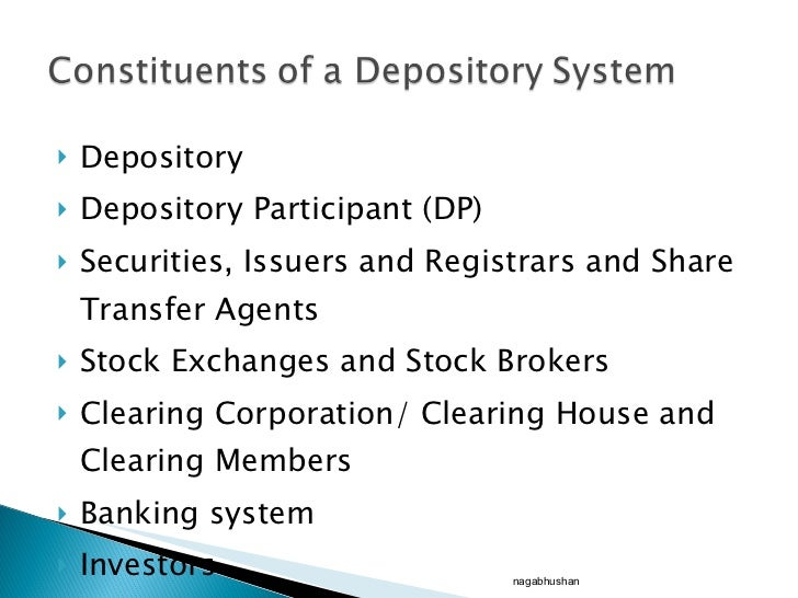 Depository system of stock trading in india